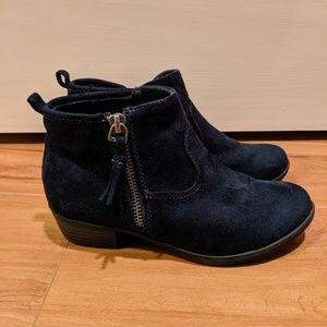 Cat & Jack Navy Suede Booties